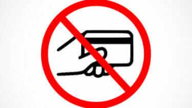 クレジットカード 利用停止